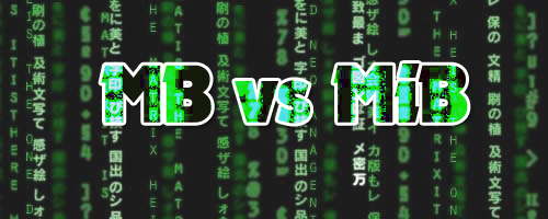 MB vs MiB
