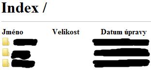 Úspěšné přihlášení na FTP